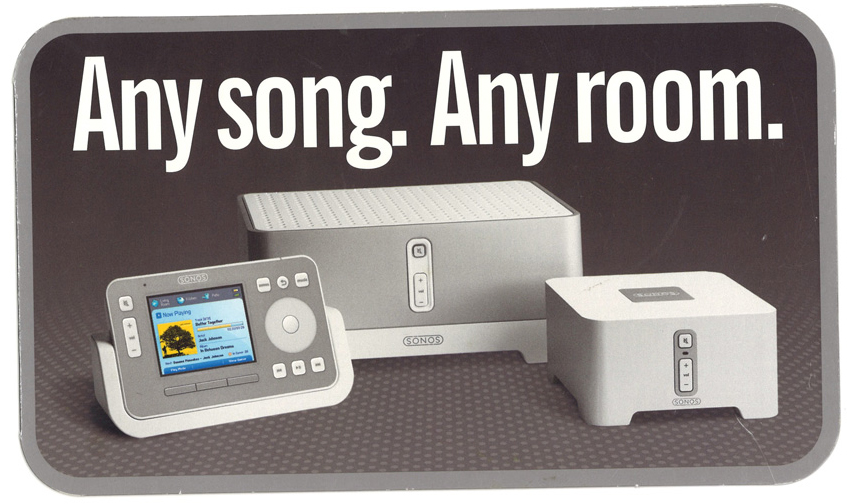 Early Sonos ads: The bolder the claims, the less copy required.