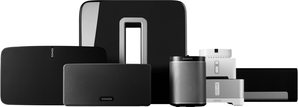 The Sonos Family of multi room audio products
