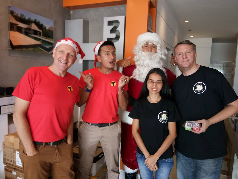 Tim from the Thaiger brings Santa to the H3 Digital Office.