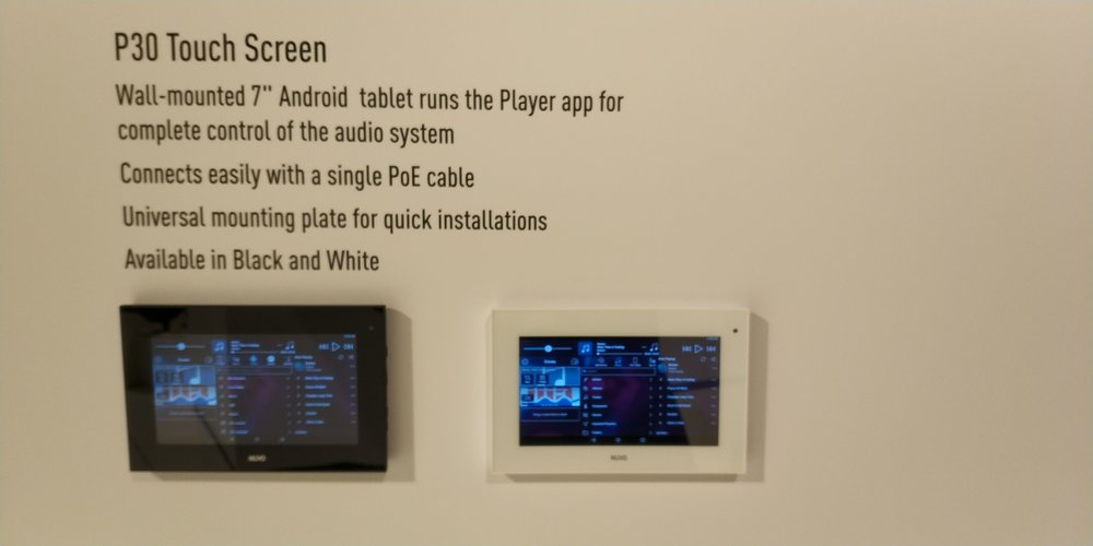 Nuvo P30 Touch screen control for Nuvos audio system.
