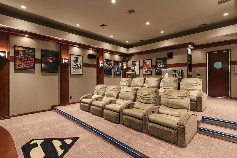 Shaq's Home Cinema Seating/Rear View