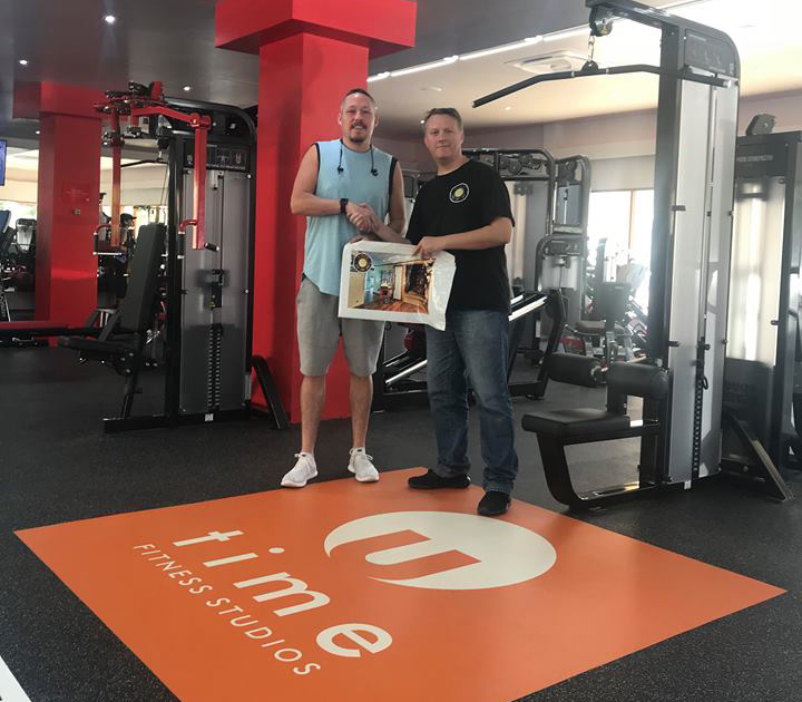 UTime Gym Handover - Cathal Kiely from UTime meets with Rob Hobbs from H3 Digital