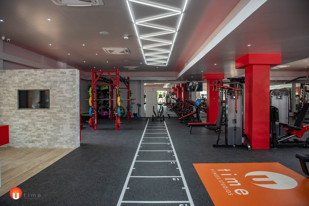 UTime Gym with in-ceiling speakers
