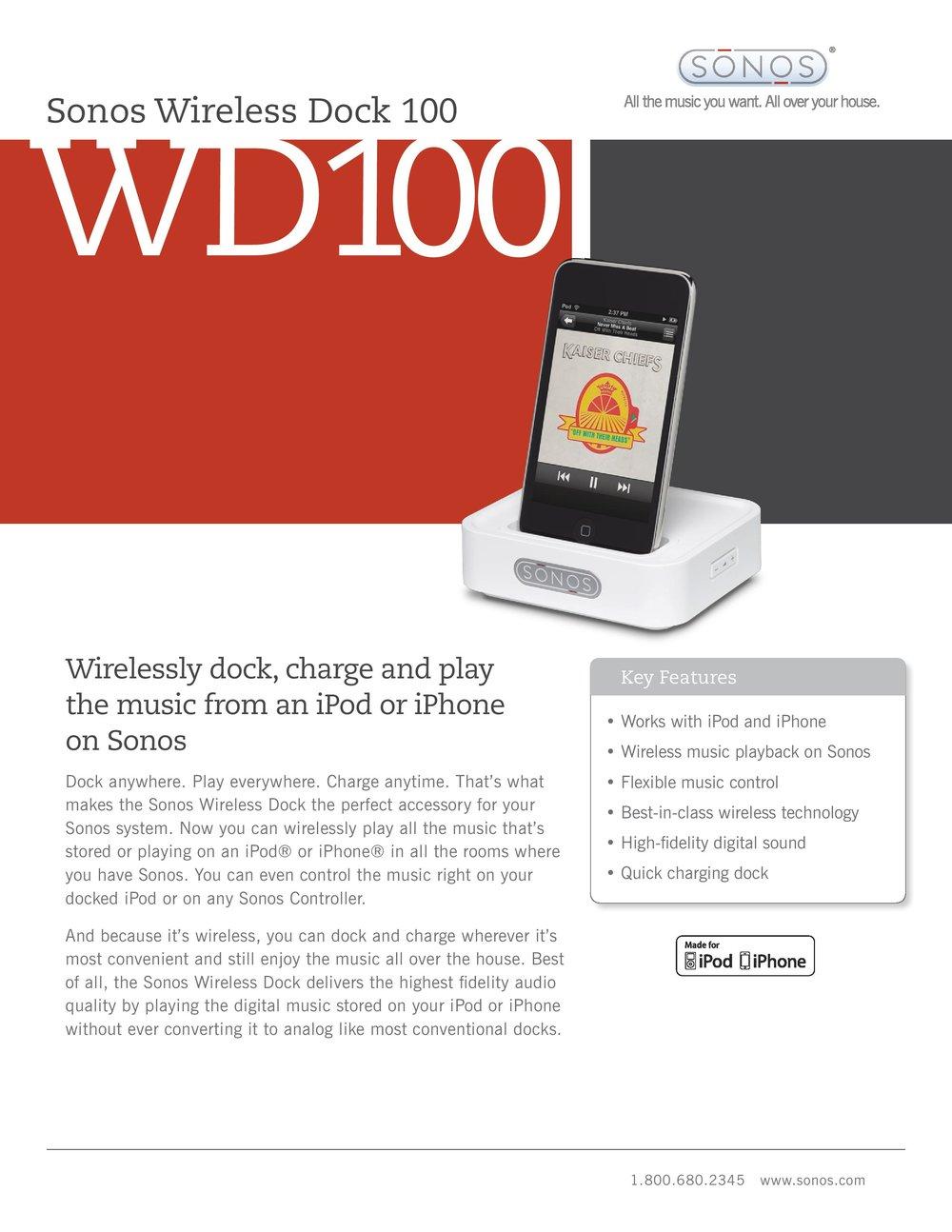 SONOS Wireless iPod Dock WD100