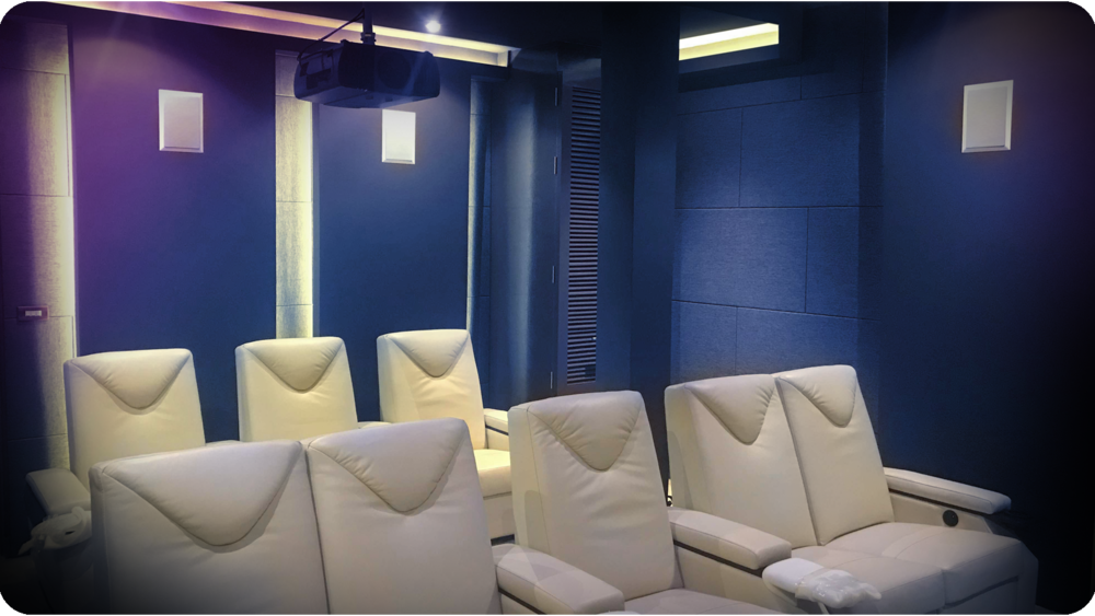 Ferrari White (Latte) Leather Cinema Recliners