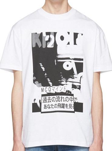 Mens McQ Alexander McQueen White Katsumi TShirt.jpg