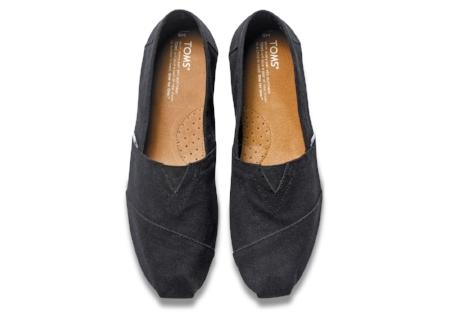 Tom's Leather Slip-On's.$69.00