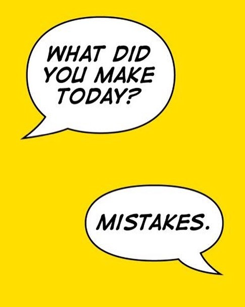 STRAIGHT TALKING TUESDAY Whoever made mistakes taboo was an a-hole.  Trying stuff, seeing what works + what doesn't is how we find our way. Lord knows starting a business is hard - like, really really really hard - but if you don't try you'll never know what could be. That's our story anyway and we're sticking with it 🤷♀️🤷♂️ Anyone else feeling it?