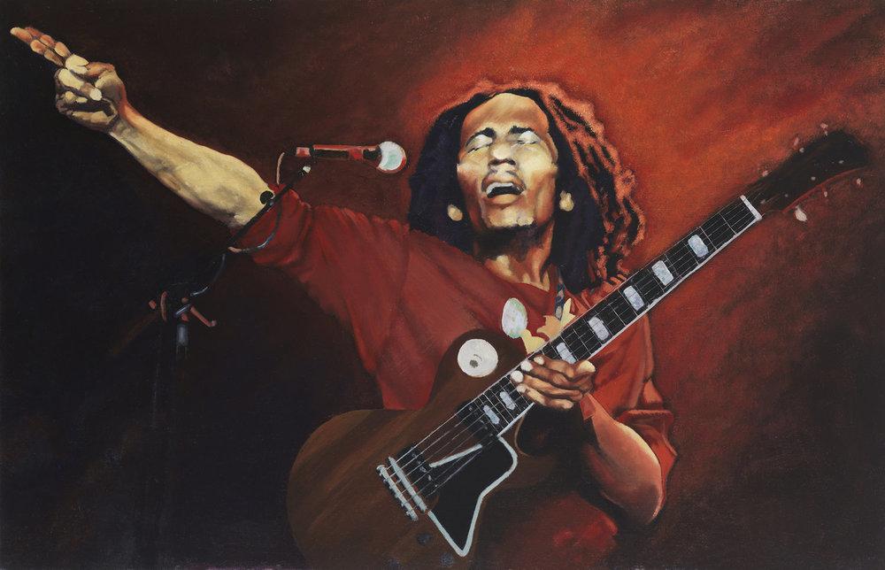 """Bob Marley 27"""" h X 42"""" w"""