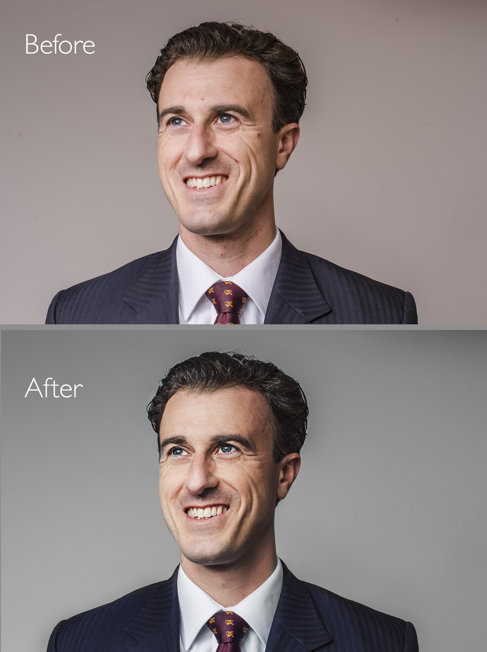 corporate headshot retouching