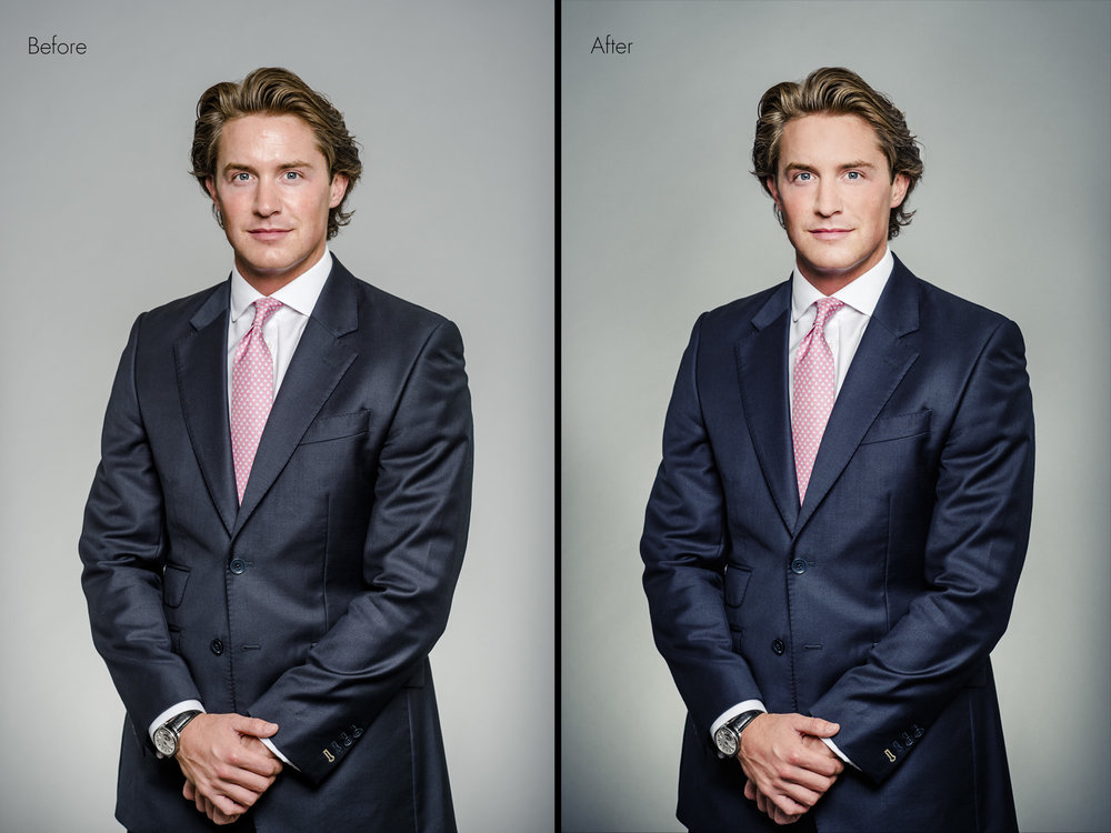 corporate photography retouching