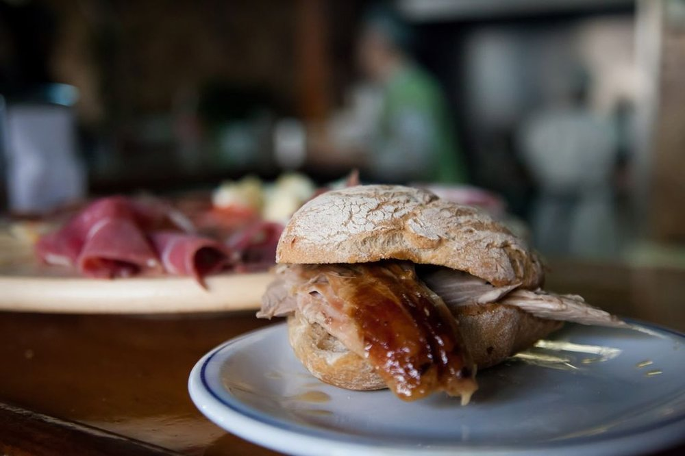 Mythical Pernil sandwich at Casa Guedes