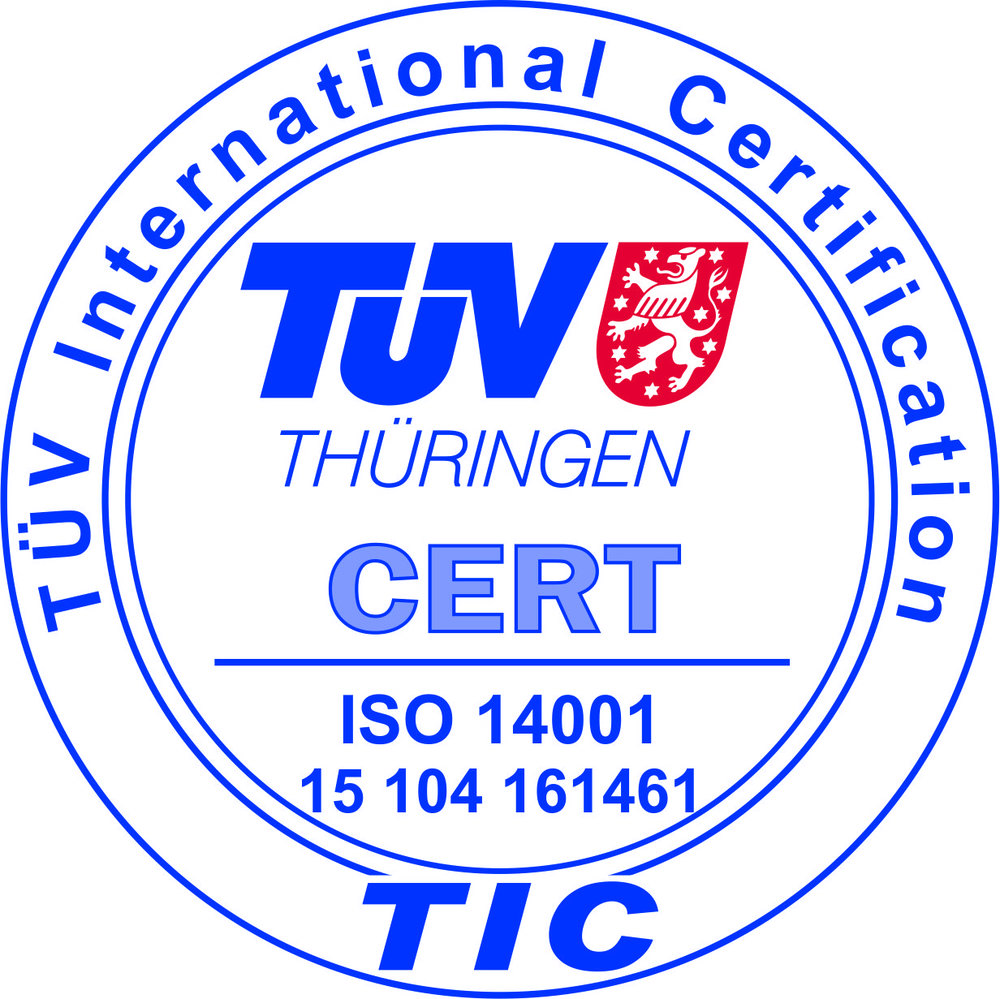 2016 - Zertifizierung des Umweltmanagementsystems nach DIN EN ISO 14001