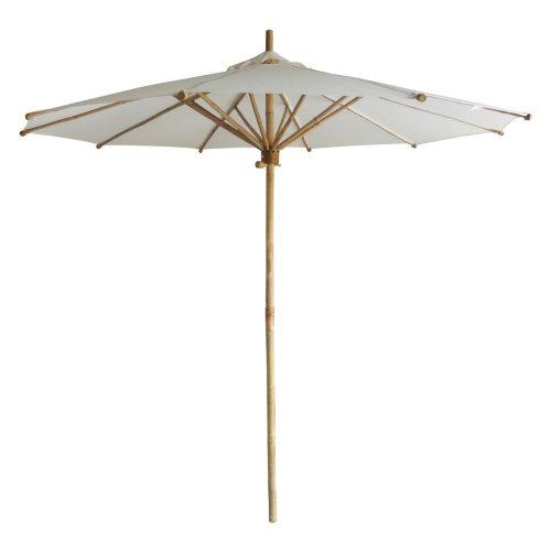 Classic white umbrellas