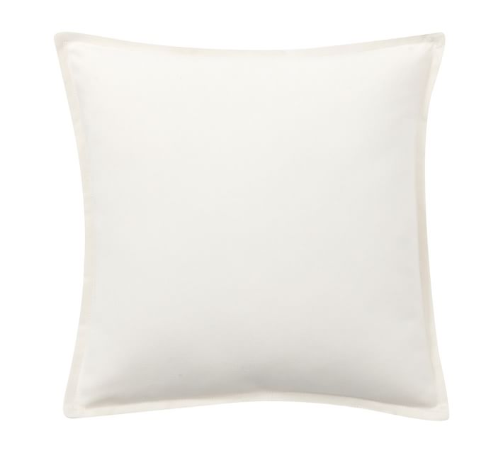 Natural white outdoor pillow