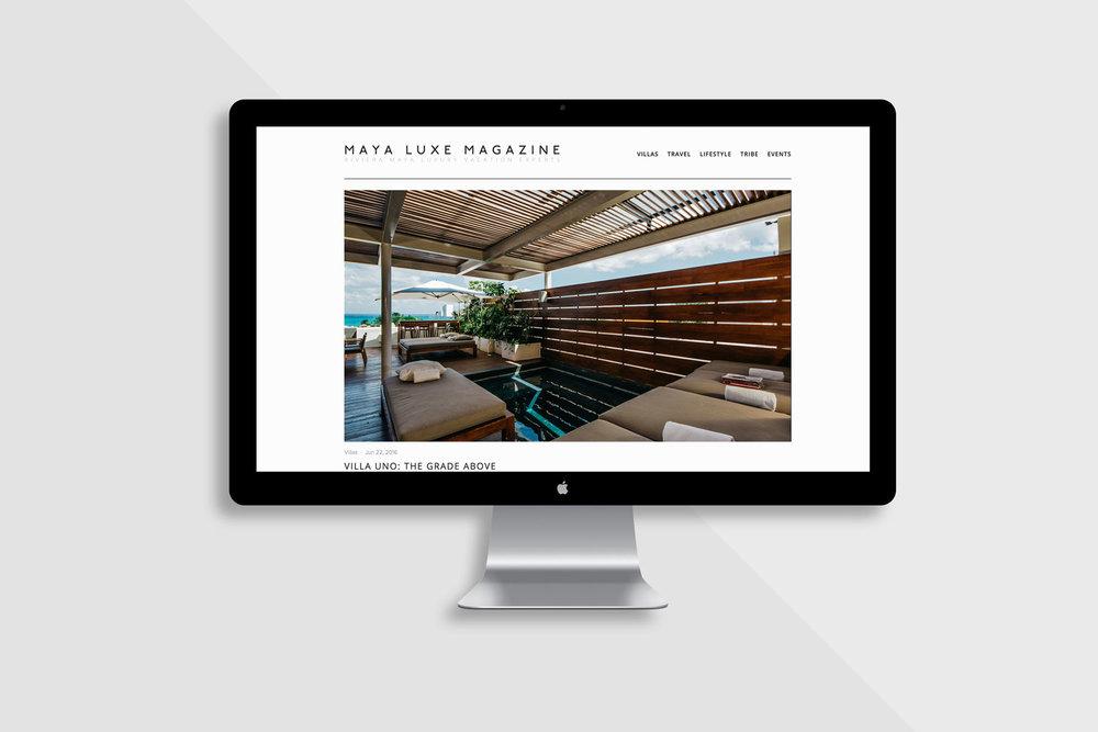 Web Design Maya Luxe Magazine