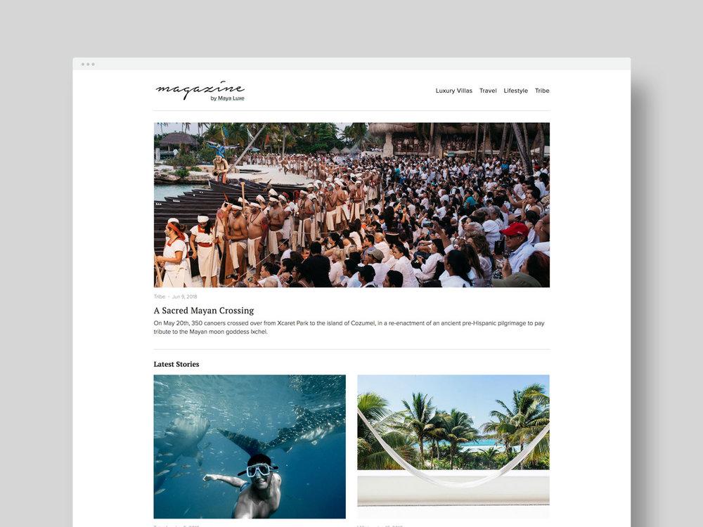 Photography / Creative Direction / Web Design     Maya Luxe Magazine