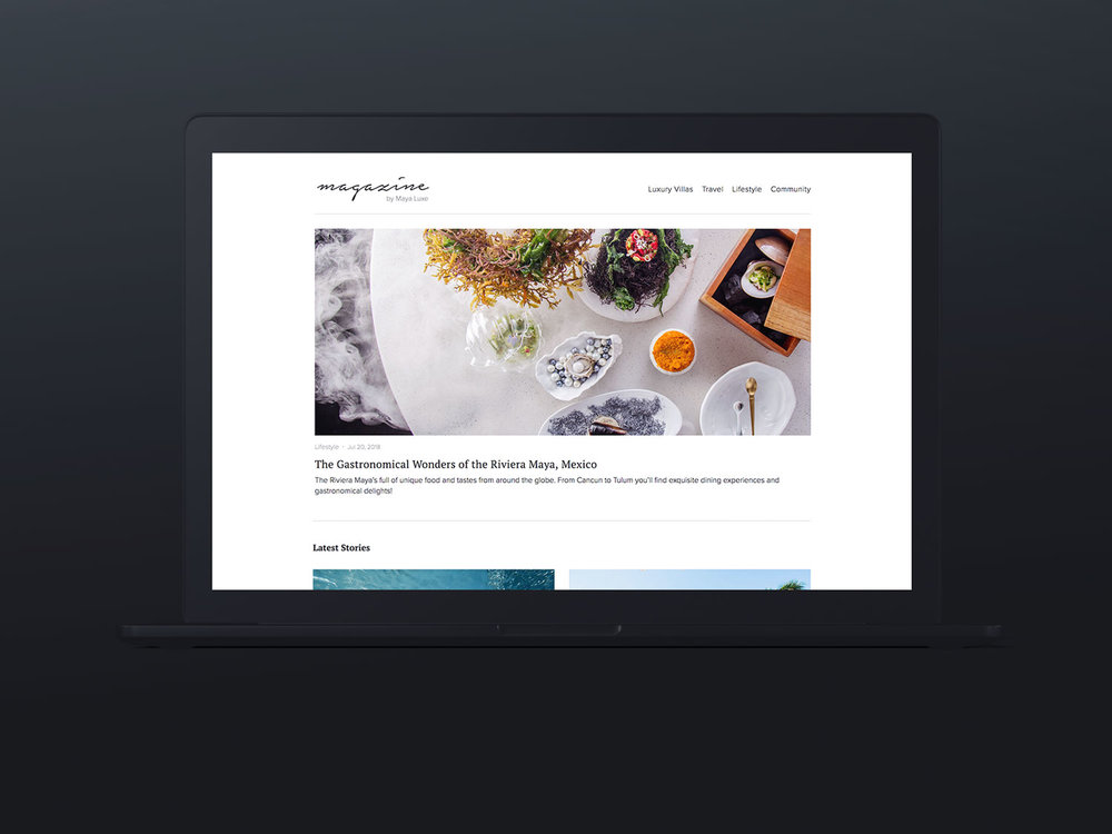 Creative Direction / Web Design / Photography     Magazine by Maya Luxe