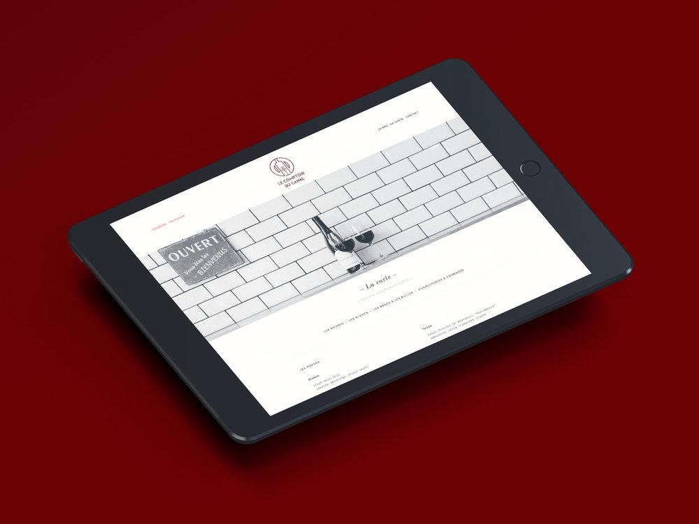 Web Design / Photography / Print Design     Le Comptoir du Canal