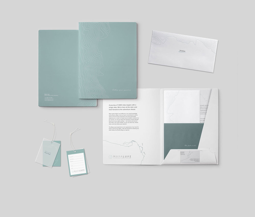 Brand Identity / Print Design     MAYA LUXE BRANDING