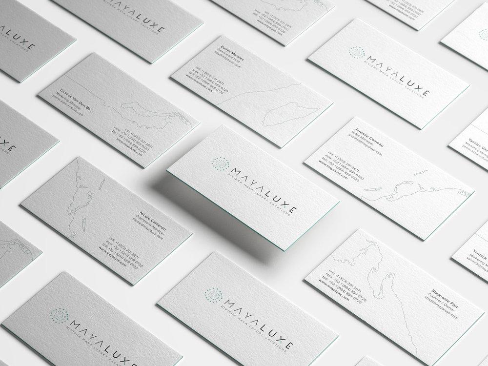 Brand Identity / Creative Direction / Print & Web Design     Maya Luxe Branding