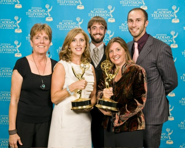 APRIL 2007   Kathy wins first of four National Emmys from Academy of Television Arts and Sciences in the News and Documentary category. Those statues are heavier than they look.