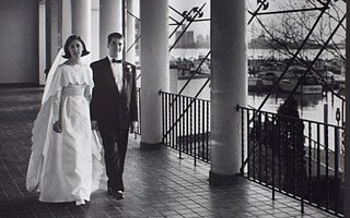 MAY 1994 Brian and Kathy get married at the Detroit Yacht Club. Kathy wore her mother's wedding dress and the DJ got a ticket speeding on Belle Isle.