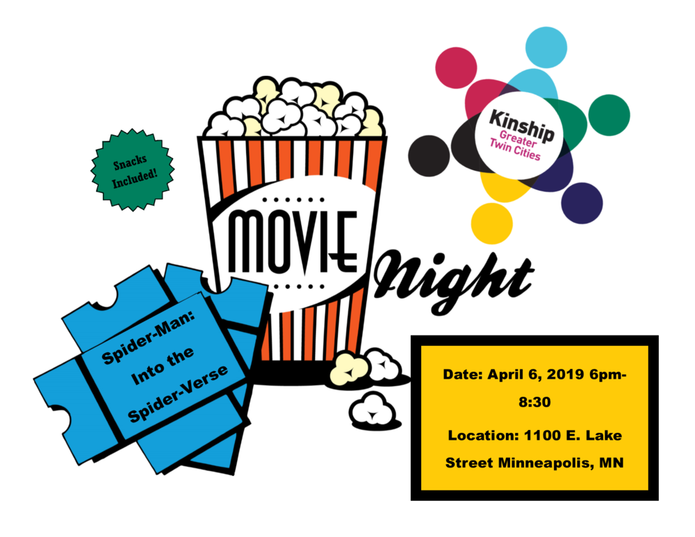 Come join your Kinship Family for dinner and a movie!
