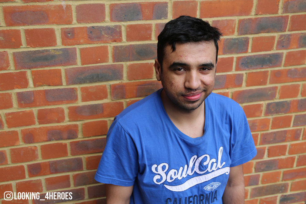 """Always think positive, don't think negative at all. Everything happens for a reason, so just don't be afraid, just go for it and try to smile."" - Amjad, 25"
