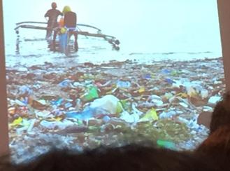 Plastic Pollution in Manila Bay Harbor