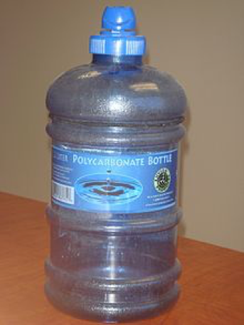BPA is used to make plastics like this water bottle; Source: Wikipedia