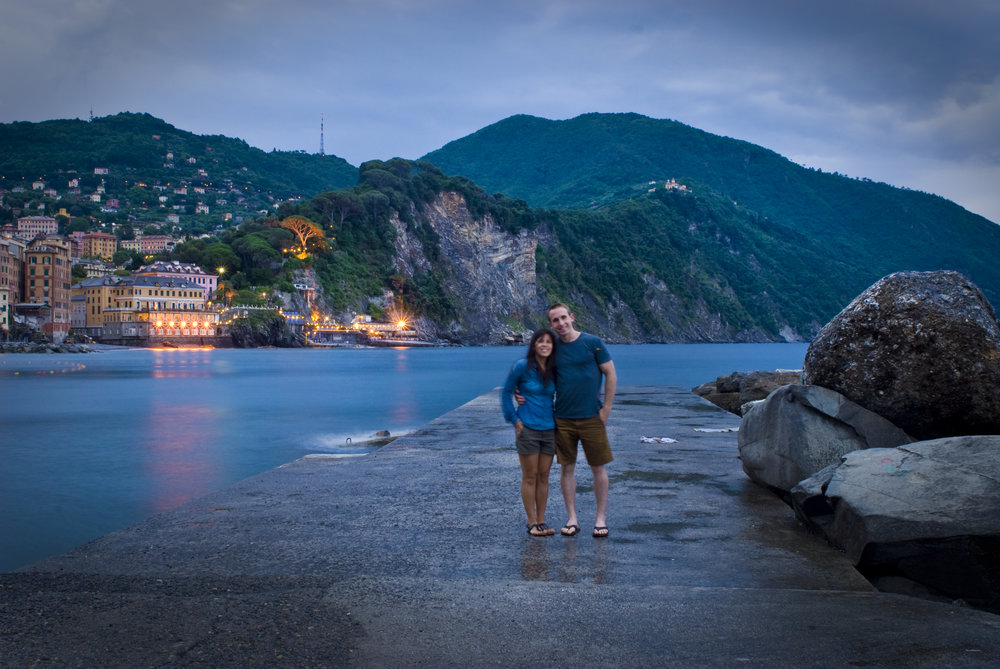 Chris & Katy Honeymooning In Camogli, Italy 2014