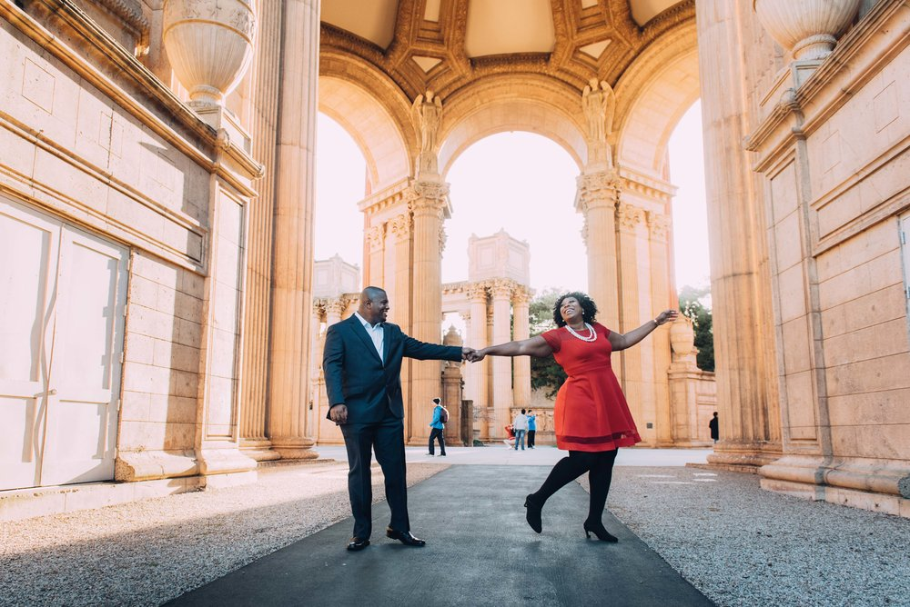 Shanice & Addison    - Engagement: Palace of Fine Arts & Fort Point, San Francisco CA