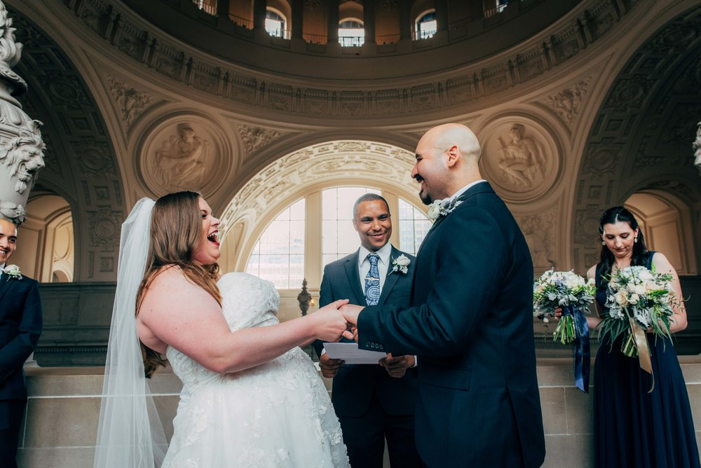 Adena & Christian    - Wedding: City Hall, Sutro Baths & Palace of Fine Arts, San Francisco CA
