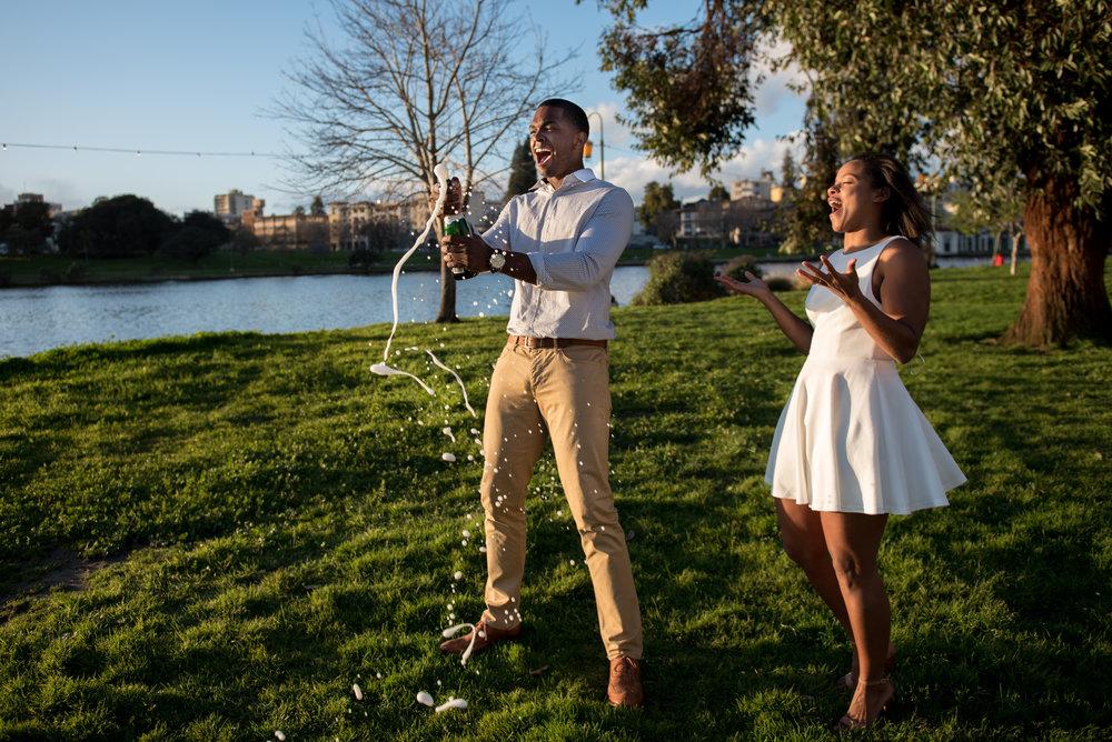 Tasha & Doni    - Engagement: Lake Merritt, Oakland CA