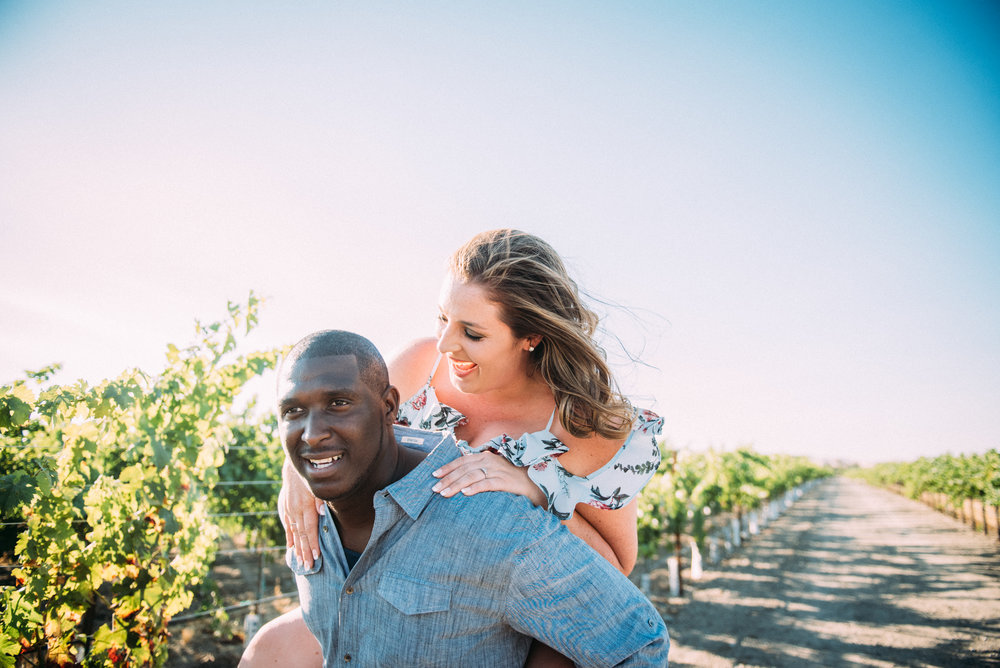 Ashley & Deandre  - Engagement: Concannon Vineyards, Livermore CA