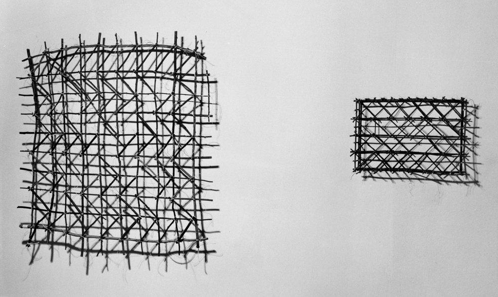 "Left:   Navigational Chart 6   60""x62""x3""   Assorted Wood   Right:   Navigational Chart Box   20""x24""x4""   Assorted Wood"