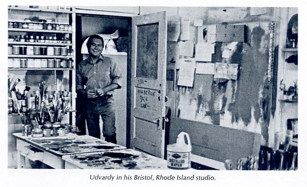 JU entering his studio (former studio of Alfred DeCredico) at 187 Public St., Providence, RI