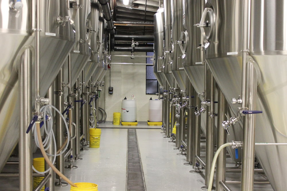 Row of fermenters