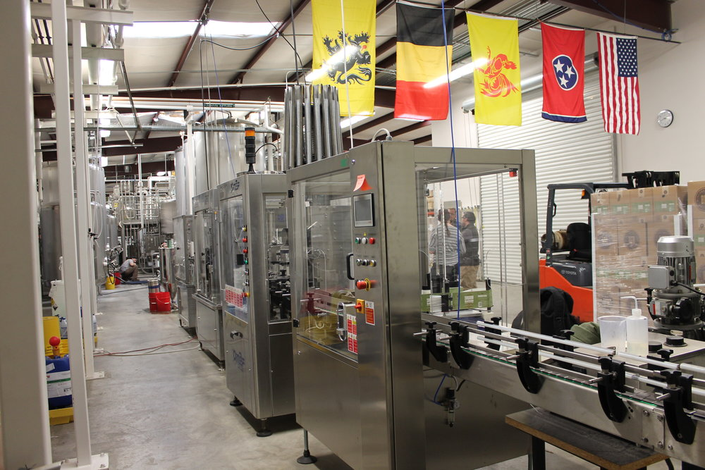 Wine bottling machine made specifically for BBF's bottles