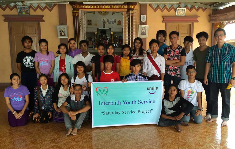 Students participating in the Interfaith Youth Services project. Credit:  SEDF