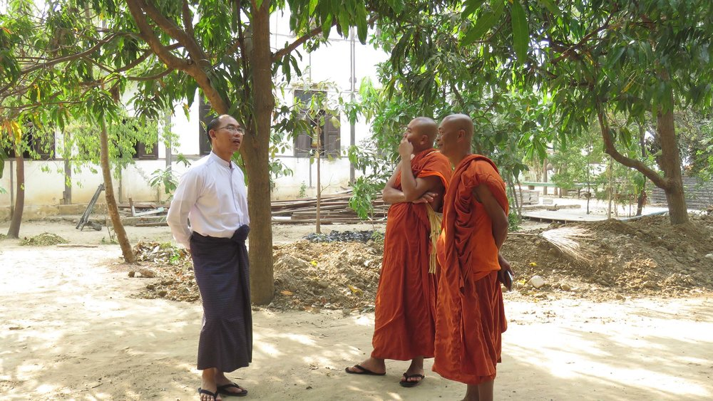 Buddhist monk Sayadaw U Withoda sheltered 800 Muslims his monastery during an outbreak of violence in Meikhtila Township in March 2013. Source: Su Wai Phyoe /  RfP Myanmar