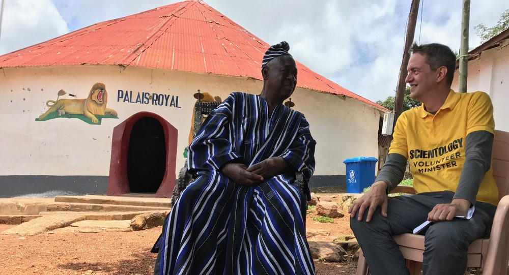 Meeting with King Bassar in northern Togo. (Credit:  Eric Roux )
