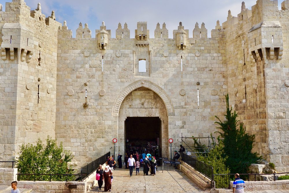 Jerusalem's Damascus Gate, seen here in calmer times, has been the site of angry protests in the days following President Trump's announcement.