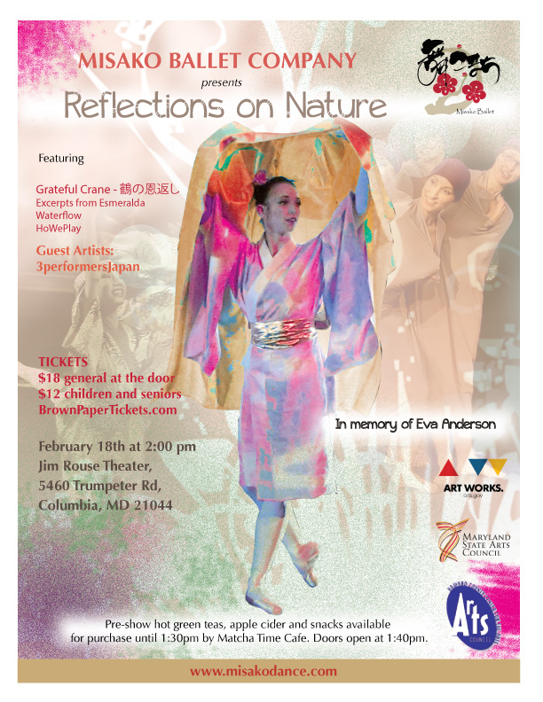 "MISAKO BALLET COMPANY PRESENTS ""REFLECTIONS ON NATURE"""
