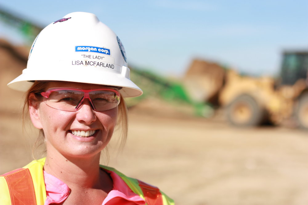 Morgan Corp employee smiling on job site
