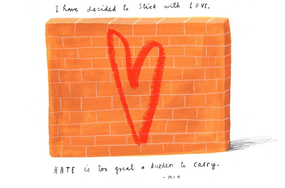 I Have Decided To Stick With Love by Oliver Jeffers. Photo credit: LoveLetterAmerica