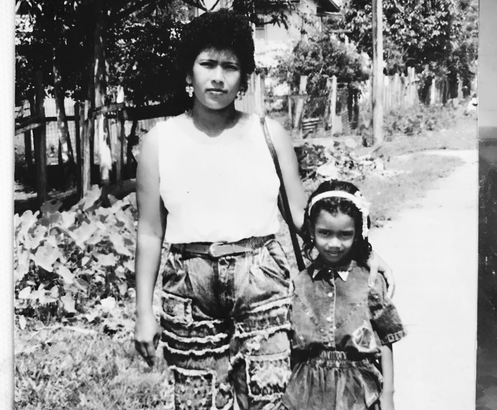 The author and her mom, Guyana. ca. 1992