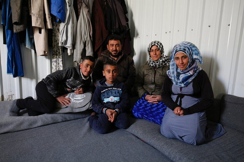 A Syrian refugee family in the Azraq camp, northern Jordan Picture: Russell Watkins/DFID