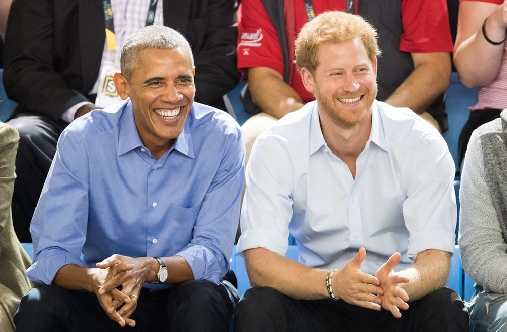 Barack Obama and Prince Harry at the Invictus Games in September